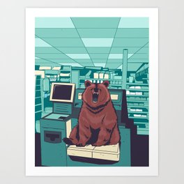 Unexpected Item in Bagging Area Art Print