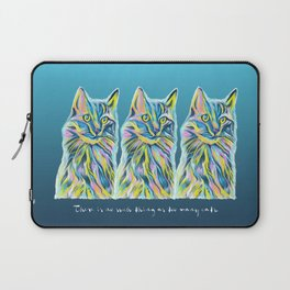 Cat of Many Colors Laptop Sleeve