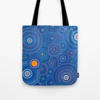 starry night Tote Bags featuring Starry Starry Night by Elspeth McLean