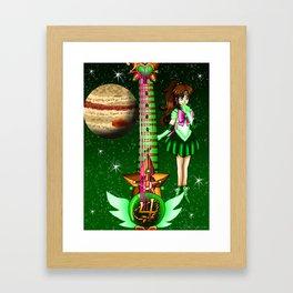 Sailor Moon Guitar #5 - Sailor Jupiter (Makoto Kino) Framed Art Print