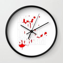 My Food Doesn't Scream Wall Clock
