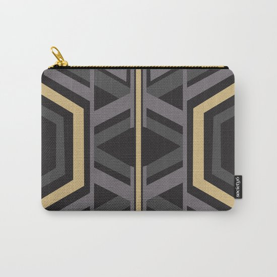 Art Deco Traveller In Grey Carry-All Pouch