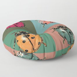 Outfits for bugs_green beetle insect Floor Pillow