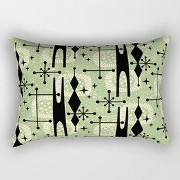 Retro Atomic Mid Century Pattern 771 Sage Rectangular Pillow