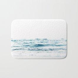 Water, Sea, Ocean, Water, Blue, Nature, Modern art, Art, Minimal, Wall art Bath Mat