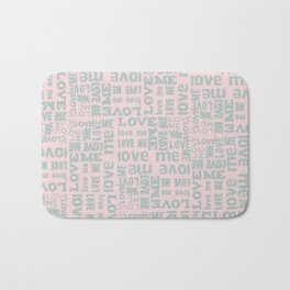 Valentine Love Me Typography Pattern-Mix & Match with Simplicty of life Bath Mat