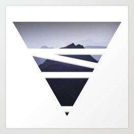 Abstract mountain design  Art Print