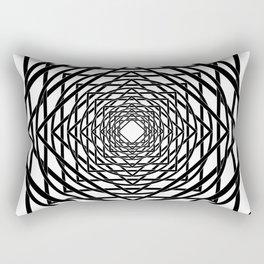 Diamonds in the Rounds B&W Rectangular Pillow