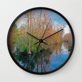 Waccamaw Creek Reflections Wall Clock