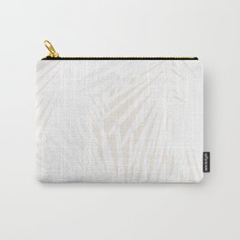 Palms White & Nude Carry-All Pouch