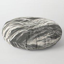 Black Waves Floor Pillow