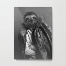 Model Sloth Metal Print