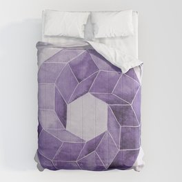 Watercolor Purple Impossible Polyhedron  Comforters