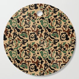 English Bulldog Camouflage Cutting Board