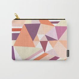 Modern abstract coral pink geometrical pattern Carry-All Pouch