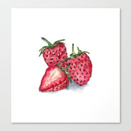 Watercolour Strawberries Canvas Print