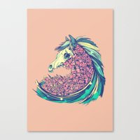 horse Canvas Prints featuring Beautiful Horse by Diego Verhagen