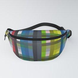 colorful striking retro grid pattern Nis Fanny Pack