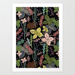 mysterious herbs Art Print