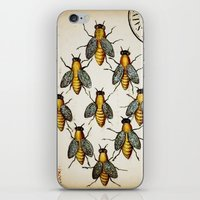 medieval iPhone & iPod Skins featuring Medieval Swarm by Vintage Avenue