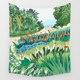 Solo Walk #illustration #nature Wall Tapestry