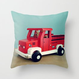 Toy Fire Truck Throw Pillow