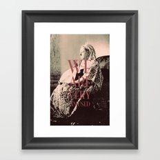 ♡ Your Majesty? ♡ Framed Art Print