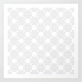 Kitchen Cutlery Outline Circles Art Print
