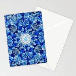 Aqua Crystal Mandala Stationery Cards