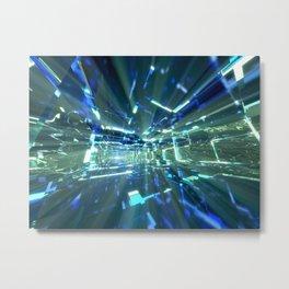Sapphire Tunnels Metal Print