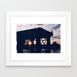 Greenwich Sunset (2) Framed Art Print