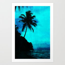 Tropical scene Art Print