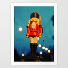 Nutcracker at night Art Print