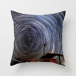 Star Trails Throw Pillow