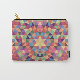 Happy triangle mandala Carry-All Pouch