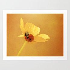 Buttercup Lady Art Print