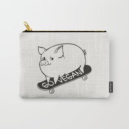 Skateboarding Vegan Pig Carry-All Pouch