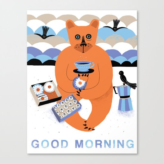 Good morning Bear Canvas Print