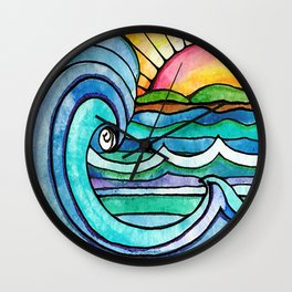 Beachy #society6 #spring #summer Wall Clock