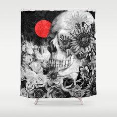 Fire in the dark, nature skull Shower Curtain