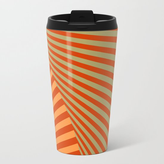 geometric composition 06 Metal Travel Mug