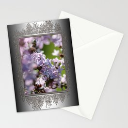 Common Purple Lilac Stationery Cards