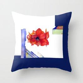 Maui Amaryllis Throw Pillow