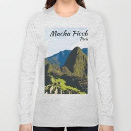 Machu Pichu Peru Art Long Sleeve T-shirt