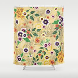 Psychedelic flowers  Shower Curtain
