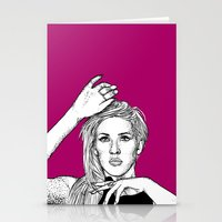 ellie goulding Stationery Cards featuring Ellie Goulding by Sharin Yofitasari