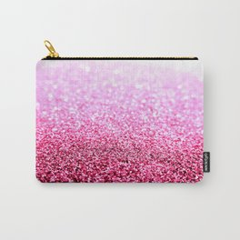 Pink Glitter Sparkle Carry-All Pouch