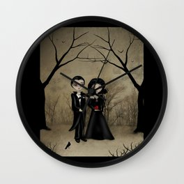 Dark Gothic Romance Betrothed Wall Clock