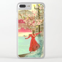 Don't go with the flock Clear iPhone Case