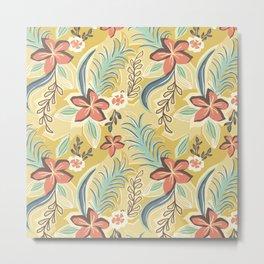 Flat botanical print Metal Print